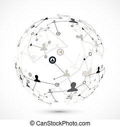 Conexión del globo humano