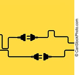 Conexión, desconexión, electricidad.