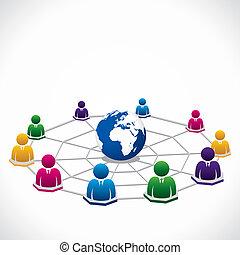 Conexión global en todo el mundo