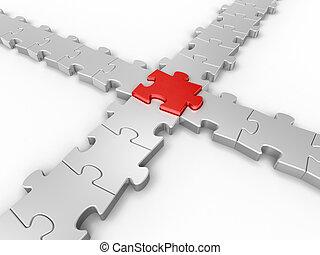 conexión, rompecabezas