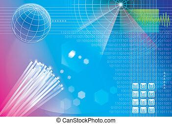 conexión, tecnología