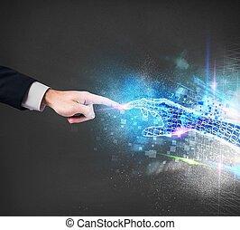 conexión, virtual