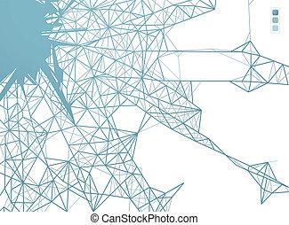 conexiones, tela, diseño gráfico