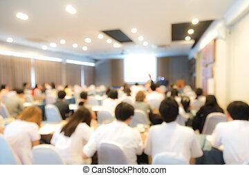 Conferencia de negocios y presentación abstractas