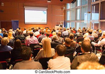Conferencia de negocios y presentación.