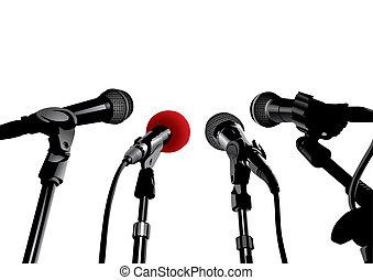 Conferencia de prensa (vector)