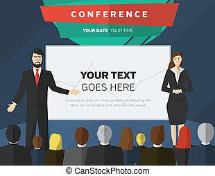 conferencia, ilustración