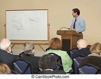 conferencia, /, seminario