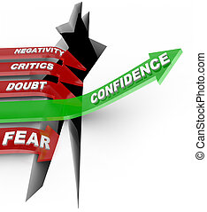confianza, haga no, influenc, negativo, usted mismo, creer, escuchar