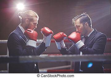 Confrontación de negocios
