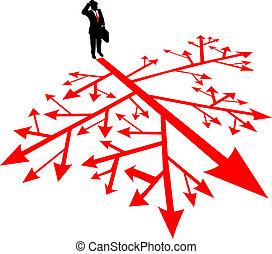confusión, búsqueda, hombre, empresa / negocio, trayectoria