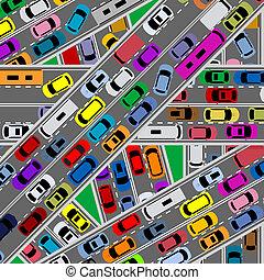Congestión de tráfico en las carreteras