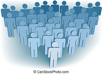 Congregación de la compañía o población de simbolo 3D