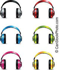 conjunto, auriculares