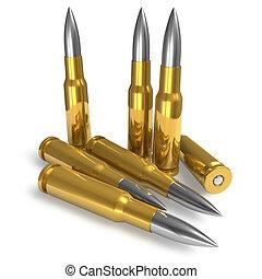 conjunto, balas