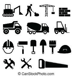 conjunto construcción, icono