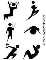 conjunto, figura palo, ejercicio