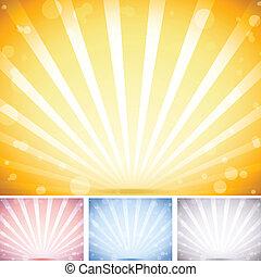 conjunto, fondo., colores, perspectiva, rayado, 4