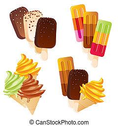 conjunto, helado