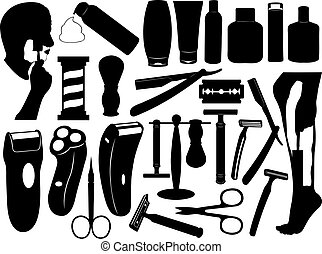 conjunto, herramientas, viruta