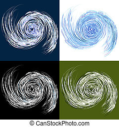 conjunto, huracán, dibujo