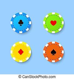 conjunto, pedacitos, casino, juego
