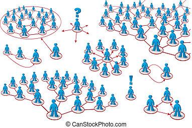 conjunto, redes, gente