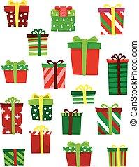conjunto, regalos, diferente