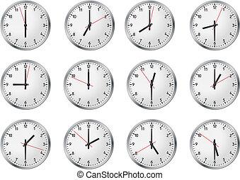 conjunto, reloj