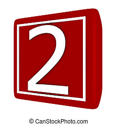 conjunto, render, número 1, 2, fuente, 3d