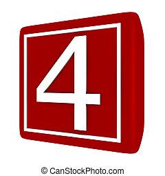 conjunto, render, número 1, 4, fuente, 3d