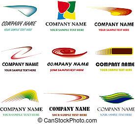 conjunto, sólo, name., branding, marca, vector, lugar, poseer, corporativo, su, templates.