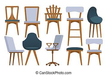 conjunto, sillas