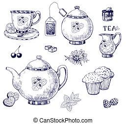 conjunto té