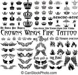 conjunto, tatuaje