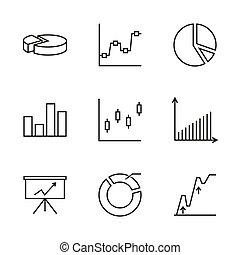 conjunto, vector, chart.