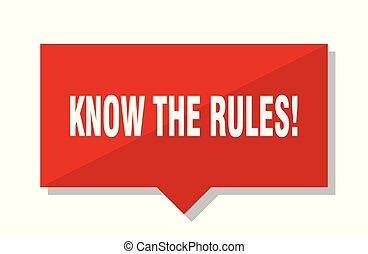 ¡Conoce las reglas! Etiqueta roja