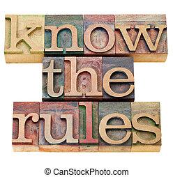 Conoce las reglas