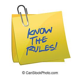 Conocer las reglas escritas en un correo