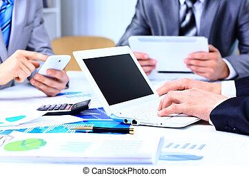 consejero, figuras financieras, empresa / negocio, compañía, trabajo, denoting, analizar, progreso