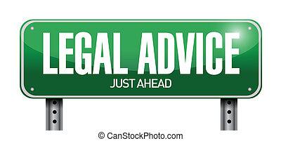 consejo, legal, señal, diseño, ilustración, camino