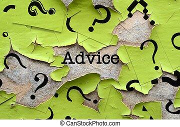 consejo, preguntas, marcas