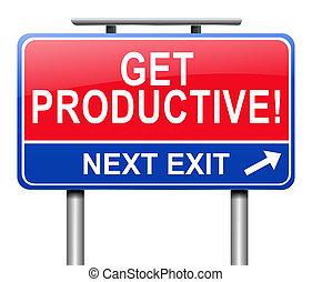 Consigue un concepto productivo.