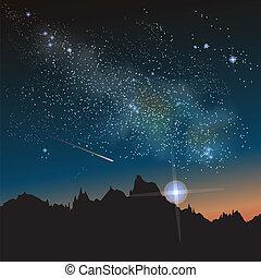 constelación, manera, lechoso