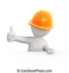 Construcción con pulgar hacia arriba