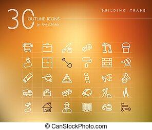 Construcción de iconos de esquema comercial establecido