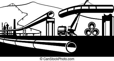 Construcción de tuberías industriales