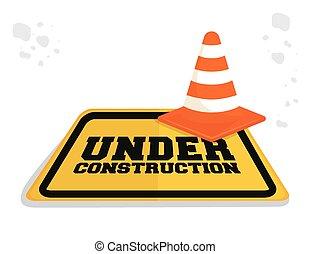 construcción, diseño, barrera, debajo