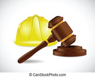 construcción, diseño, ilustración, ley
