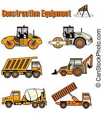 construcción, equipme